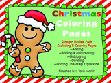 Math Christmas Coloring Pages {Add, Subtract, Multiply, Divide Integers}
