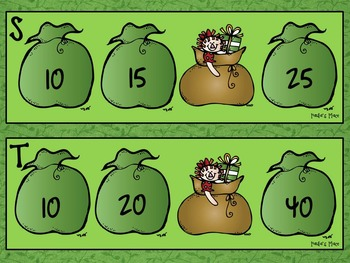Math Christmas Freebie - Skip Counting Sacks