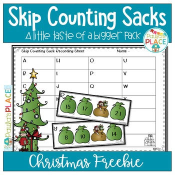 Math Christmas Freebie Skip Counting Sacks