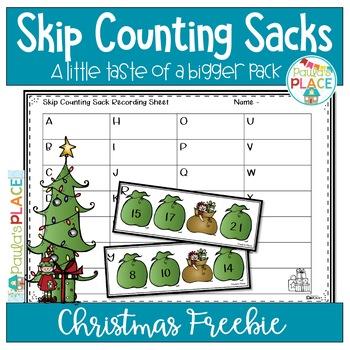 Math Christmas Freebie - Skip Counting Sacks