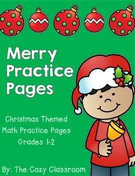 Math Christmas Practice Pages for Grades 1-2