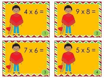 Math Cinco de Mayo Scoot game *Multiplication* 3rd grade