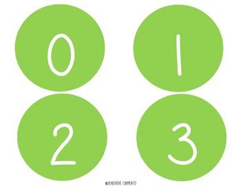 Number Circles: 0 - 10