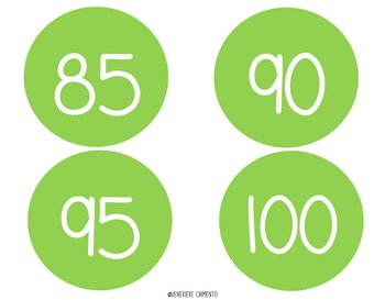 Number Circles: Skip Counting by 5's to 100