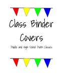 Math Class Binder Covers