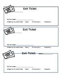 Math Class Exit Ticket