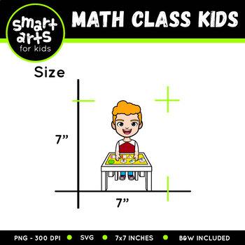Math Class Kids Clip Art
