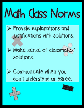 Math Class Norms Poster
