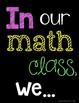Math Class Norms (chalkboard series)