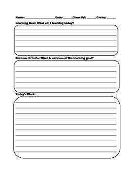 Math Class Notes (Learning Goals & Success Criteria)