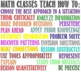 """Math Classes Teach How To:"" Poster"