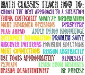 """""""Math Classes Teach How To:"""" Poster"""