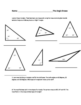 Math: Classifying Right, Acute and Obtuse Angles