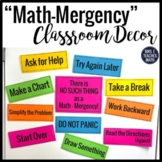 Math Classroom Decor - Reduce Math Anxiety