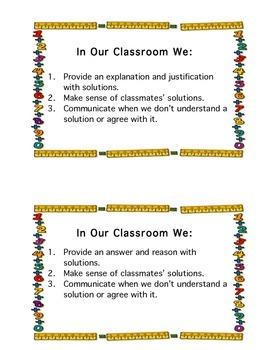 Math Classroom Norms