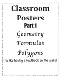 Math Classroom Posters PART 1
