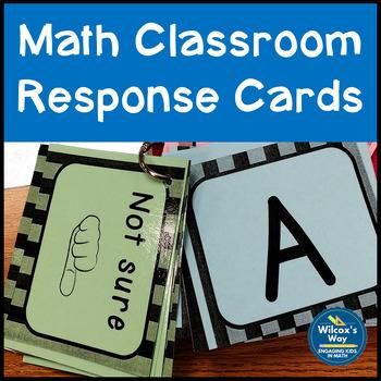Math Classroom Response Cards:  Free!