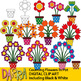 Math Clip Art: Counting Flowers In Pot