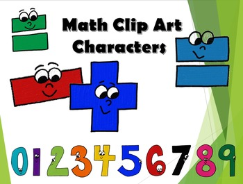 Math Clip Art - Digits 0-9, +, -, =