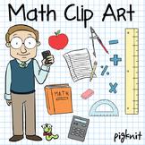 Math Clip Art -- Math Teacher, Book Worm, Mathematics, Rul