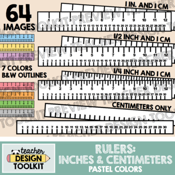 Rulers Clip Art: Centimeters