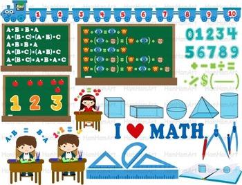 Math Clip Art Teacher Apple School mathematics numbers geometry arithmetic -079-