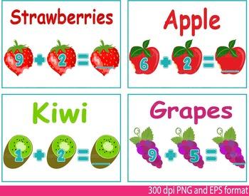Math Clip Art Teacher fruits fruit Apple orange School mathematics numbers -117-
