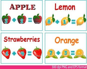 Math Clip Art Teacher fruits fruit Apple orange School mat
