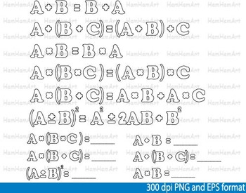 Math Clip Art Teacher outline Apple School mathematics geometry arithmetic -092-