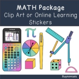 Math Clip Art or Online Learning Stickers Package