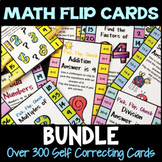 Math Clip Card Bundle: Over 300 Pick, Flip Check Self Correcting Cards