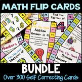 Math Clip Card Bundle: Over 300 Pick, Flip Check Self Correcting Cards
