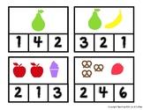 Math Clip Cards 1-10 (Food Theme)