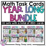 Math Task Card Bundle   Math Centers   Math Activities   N