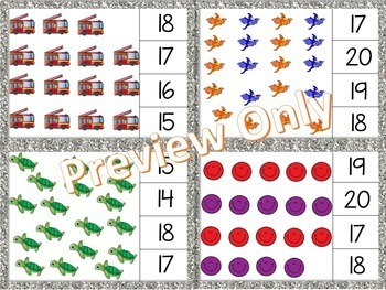 Math Clip Cards - Counting Numbers to 20