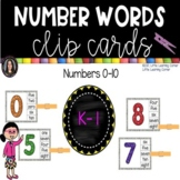 Number Words Clip Cards