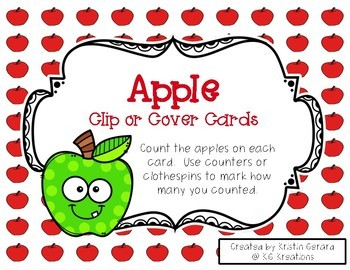 Counting Clip or Cover Cards Bundle