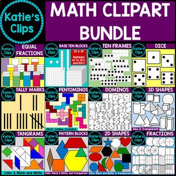 Math Clipart Bundle {Katie's Clips Clipart}