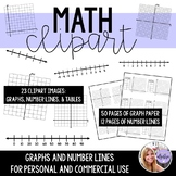 Math Clipart - Graphs and Number Lines - Images and Template Page Paper
