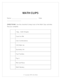 Math Clips: Math on the Move