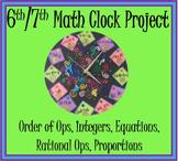 Math Clock Project 6th 7th (Order of Operations, Integers, Equations etc)
