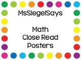 Math Close Read Steps