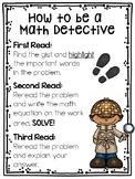 Math Close Reading Poster