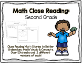 Math Close Reading Second Grade Pack - 50+ Word Problems & Stories