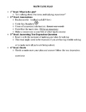 Math Close Reading / Story Problem Guide