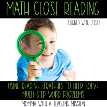 Math Close Reading Word Problem Solving
