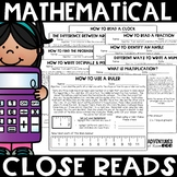 Math Close Reads