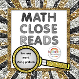 Distance Learning Close Reading in Math for Any Story Problem