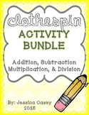 Math Clothespin Activity **BUNDLE**