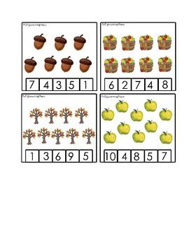 Math Clothespin Activity: Fall